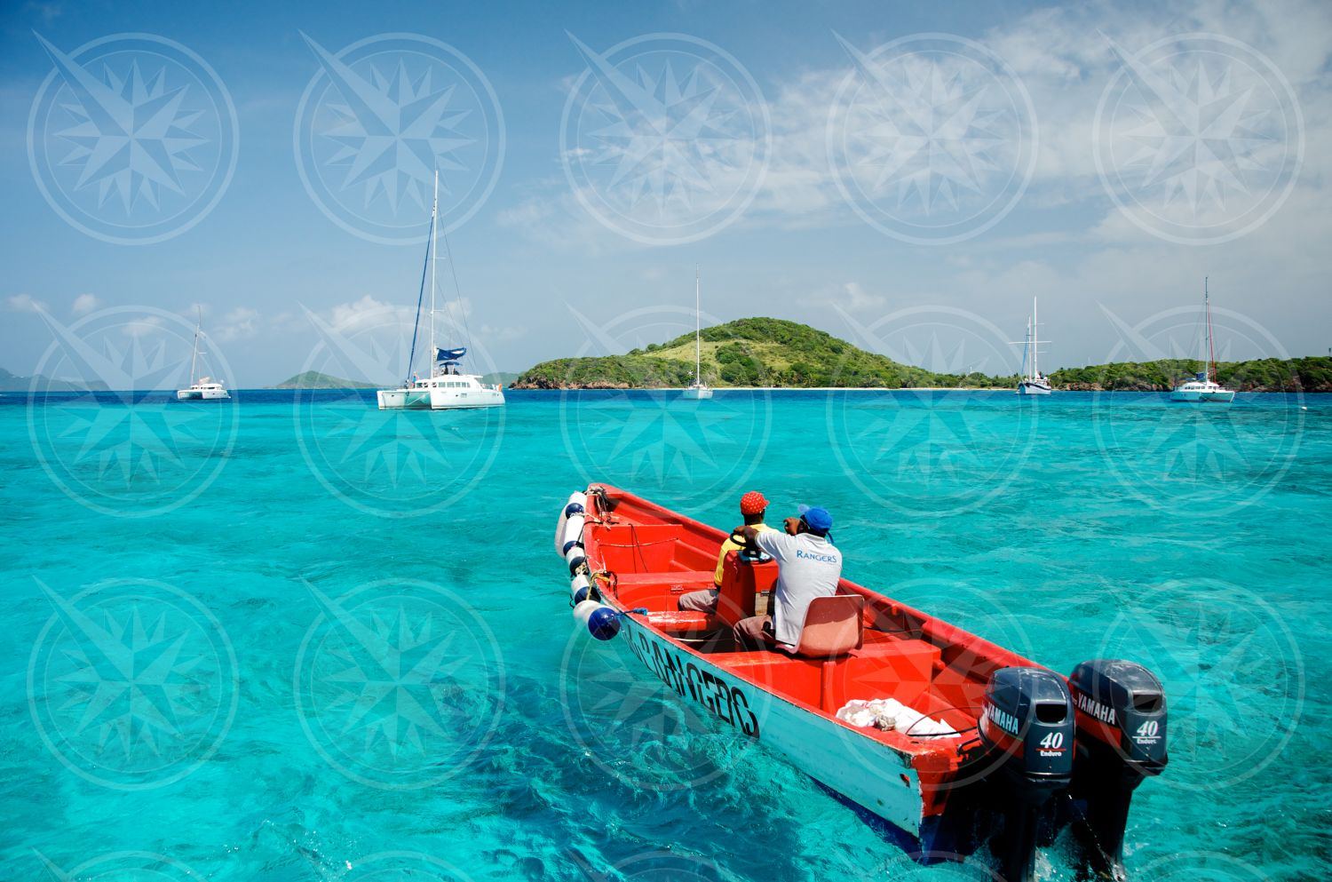 Boats in the Tobago Cays