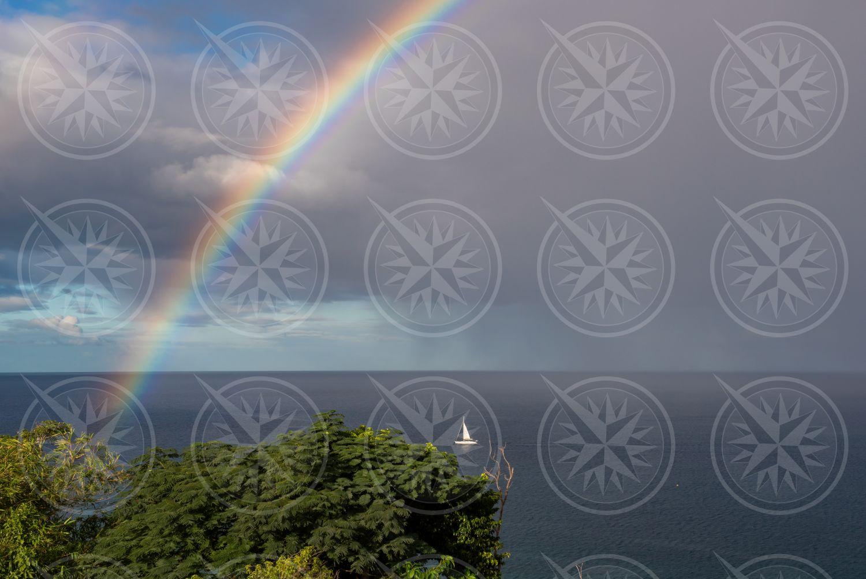 Rainbow off Dominica