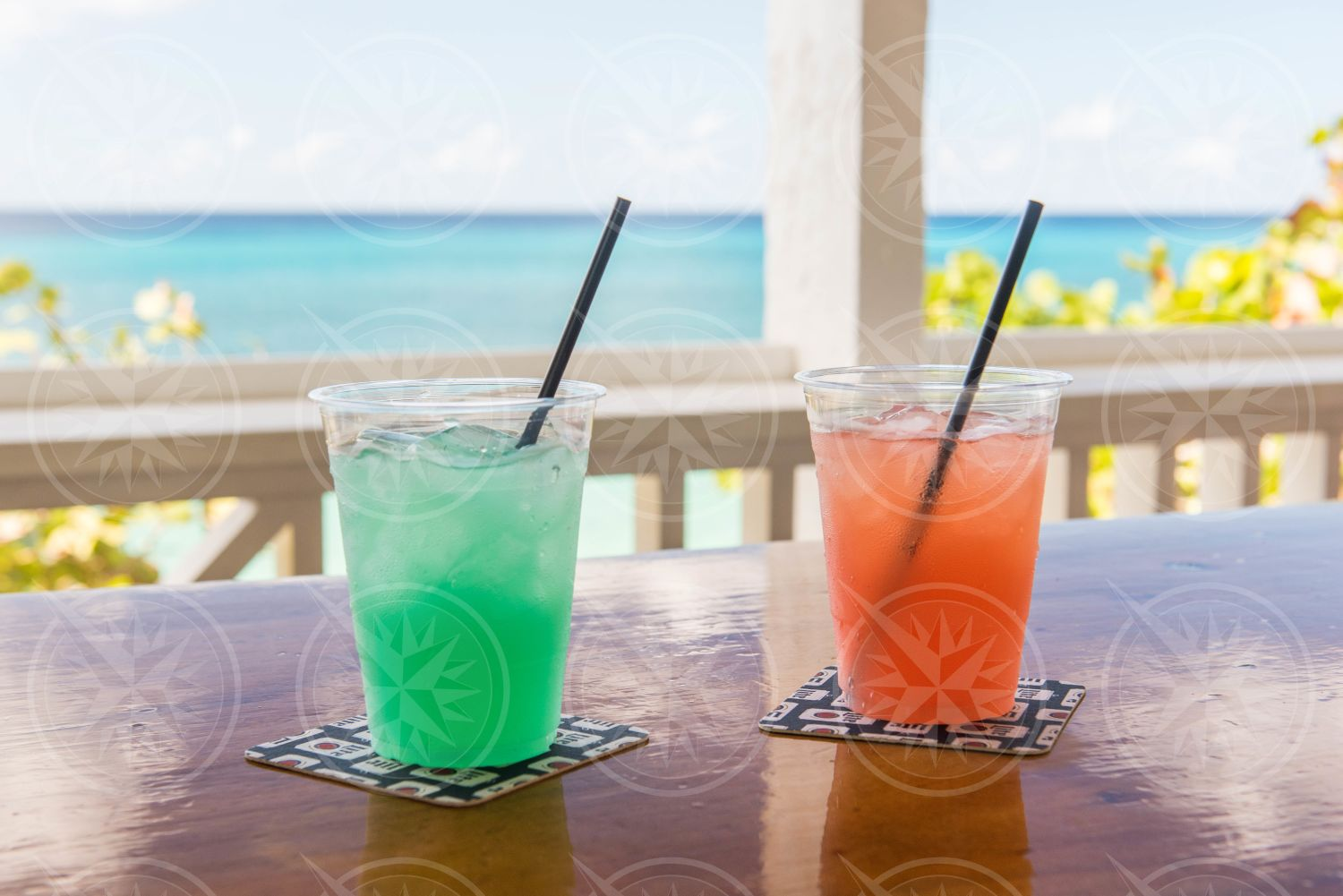 Cocktails on Louie and Nacho's Bar, Frederiksted, St. Croix, USVI