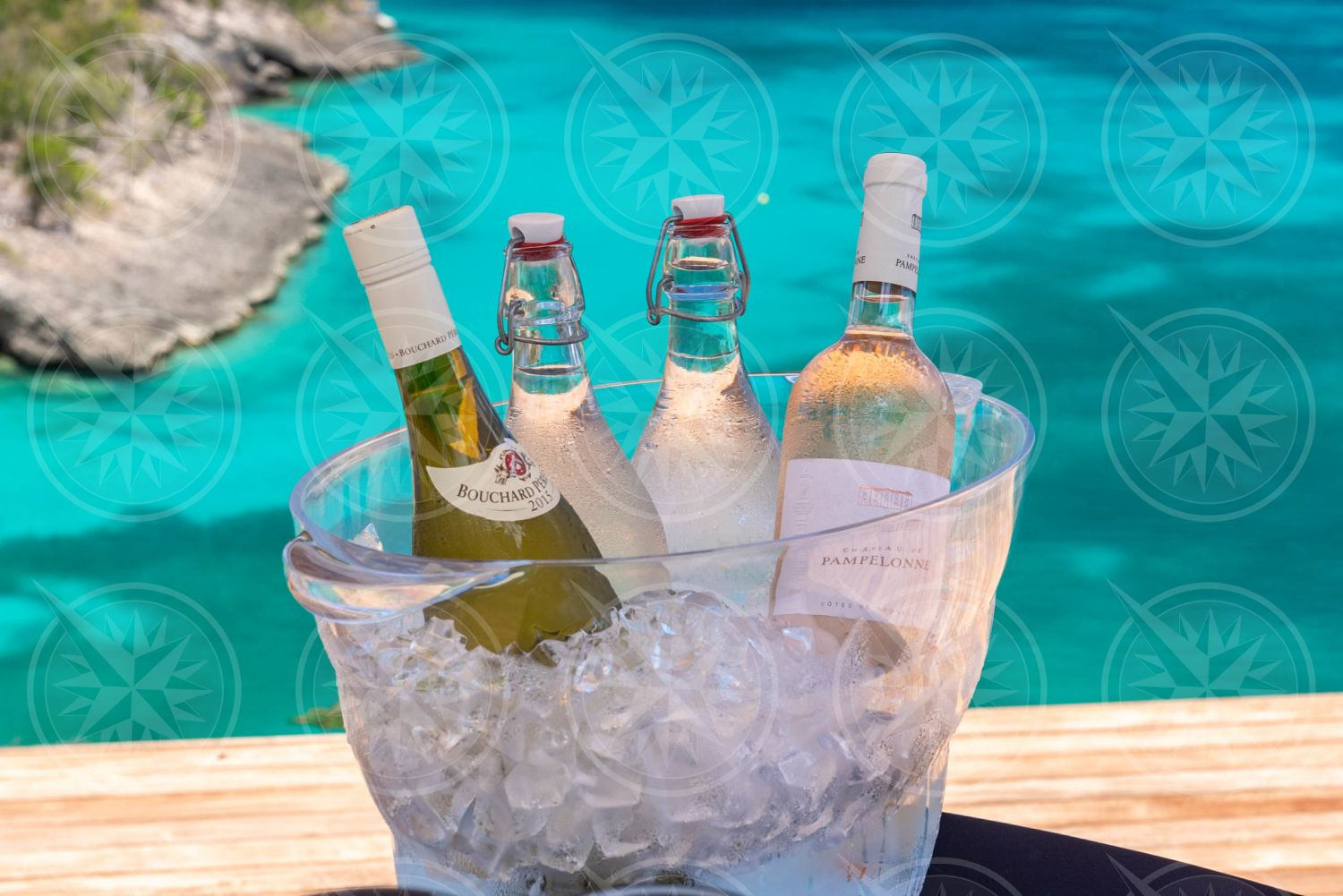 Wine in ice bucket