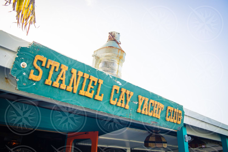 Staniel Cay Yacht Club sign