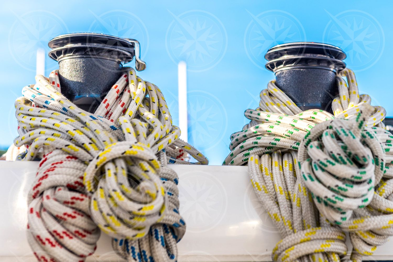 Tied up sailing lines