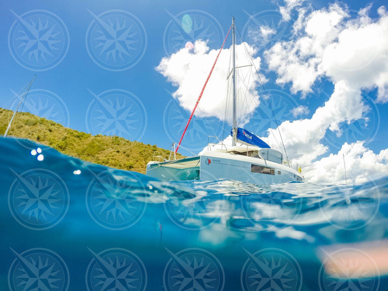 Catamaran from the water