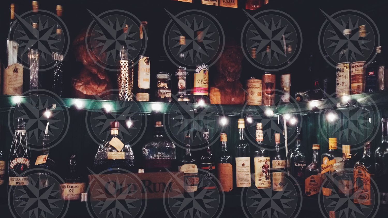 Rum selection at Papa Zouk's