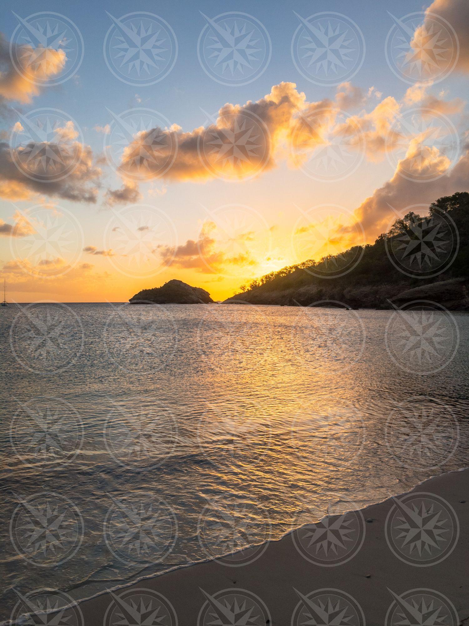Deepwater Bay Beach at sunset