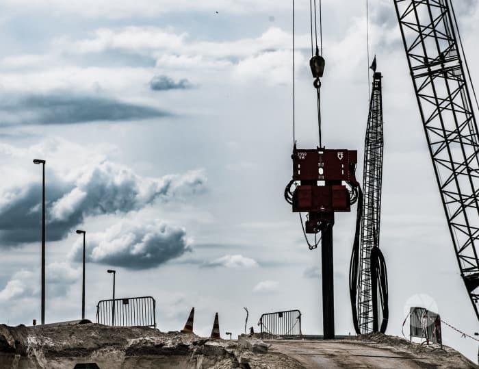 Damwanden aanbrengen voor Gaasperdammertunnel