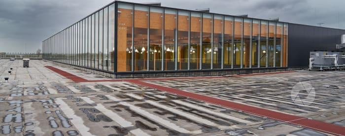 Lelystad Airport: dak van terminal