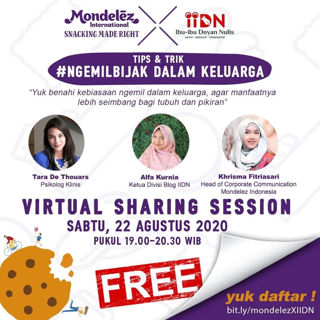 Virtual Sharing Ngemil Bijak Mondelez dan Ibu-Ibu Doyan Nulis - 22 Agustus 2020