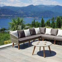 Corner Set Genova tavolo + 2 divani SET107