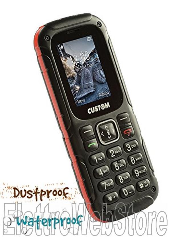 e60f7d6b9b WALLY telefono cellulare GSM dual sim per cantiere resistente acqua e  polvere