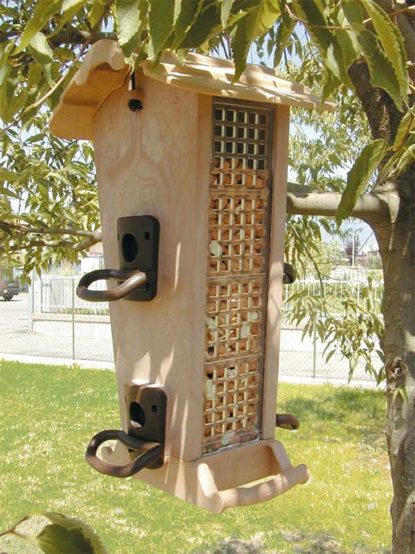Marchioro mangiatoia rifugio uccelli in libertà JOK 21 19x18x32