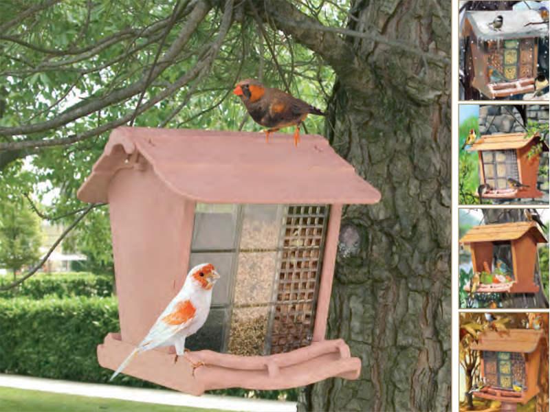 Marchioro mangiatoia rifugio uccelli in libertà JOK 1 24x26x23