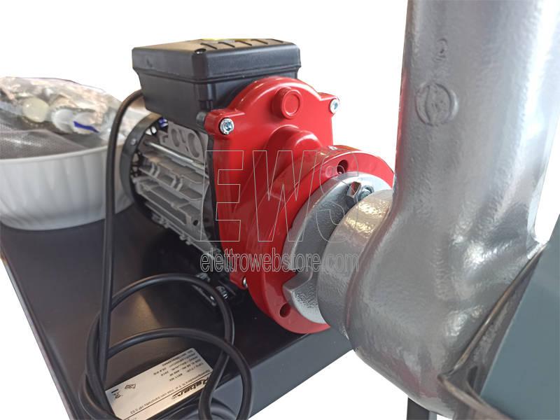 REBER spremipomodoro elettrico HP 0.53 con banchetto n.5 accessori inox 9011NX