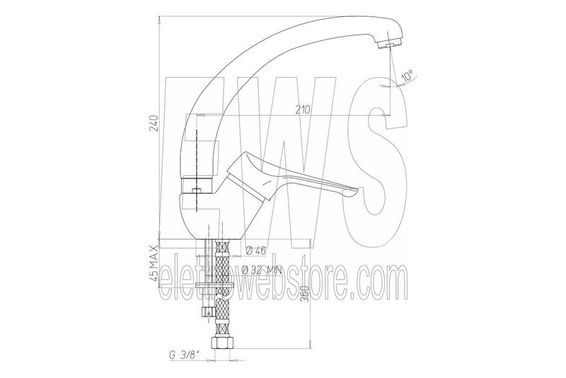 Miscelatore per lavello da cucina cromato Paini Pilot 04CR570P1