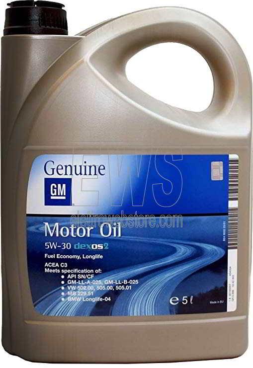 OLIO MOTORE OPEL GM sintetico 5W-30 Dexos 2 Fuel Economy Longlife 5 Litri