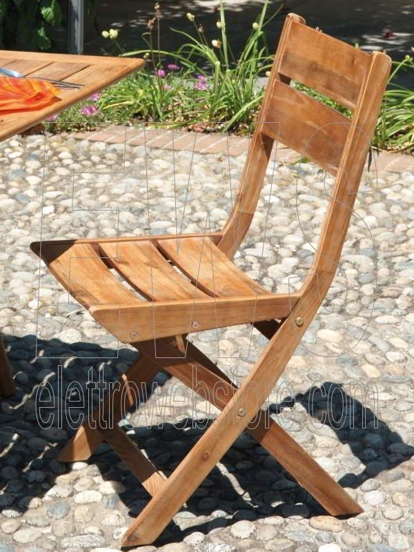 Sedia pieghevole Leon CHA303 acacia anticata