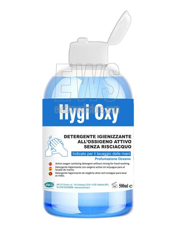 Gel igienizzante lavamani Higy Oxy 500 ml al perossido di idrogeno