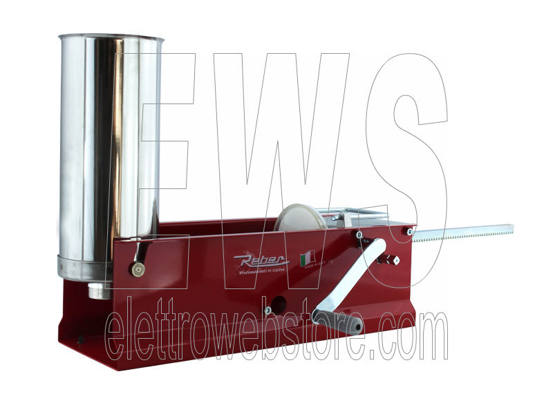REBER insaccatrice manuale rossa 2 velocità inox