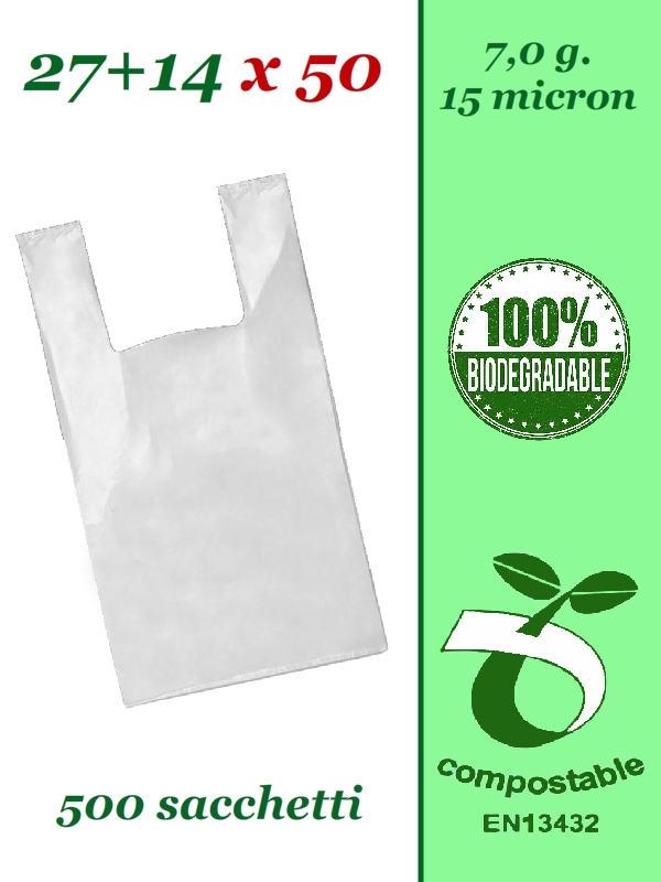 Shopper biodegradabili e compostabili buste per asporto spesa