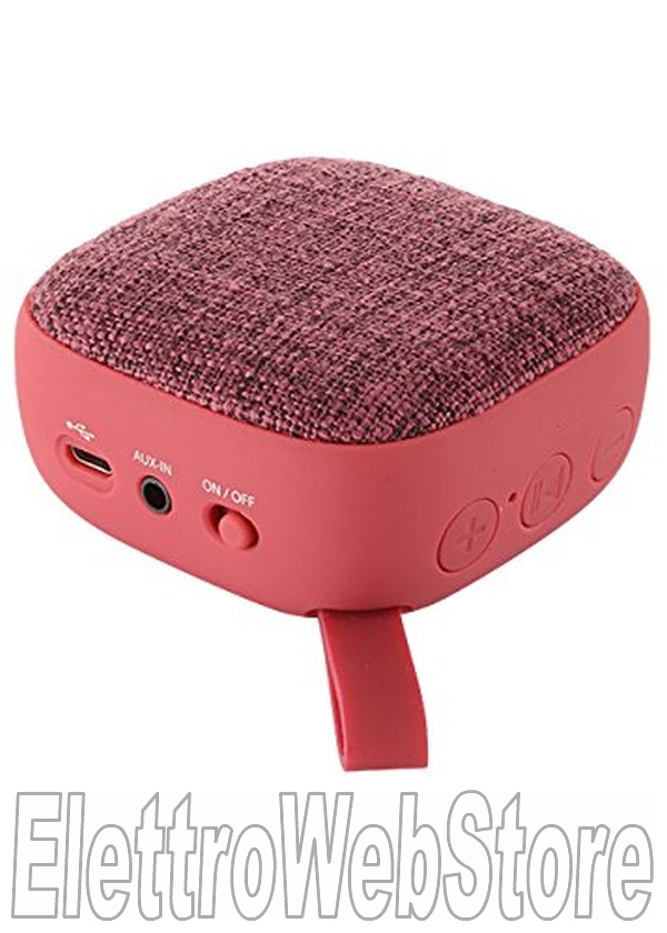 COLORMUSIC Speaker Bluetooth 4.1 con membrana in tessuto