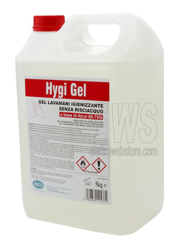 Gel igienizzante lavamani Higy Gel 20 litri a base di alcol