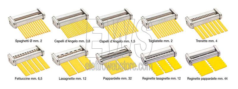 Imperia Simplex Trafila per la pasta per Ipasta Titania e Pasta Presto