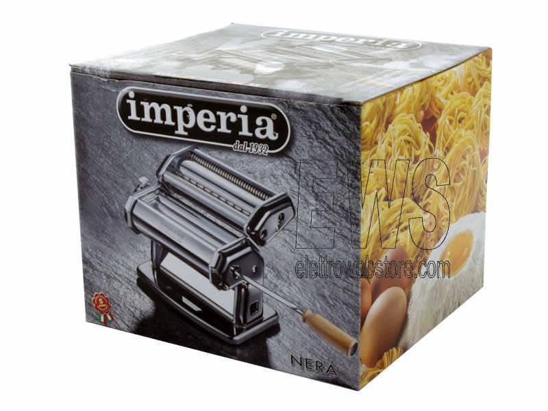 Imperia iPasta La Nera macchina sfogliatrice per pasta manuale