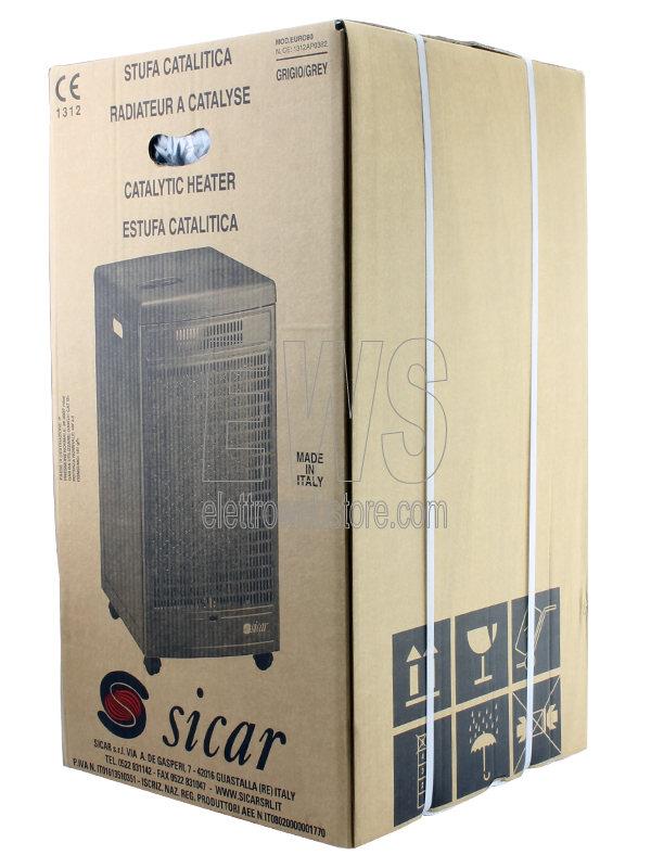 Sicar Stufa Catalitica GPL EURO80 grigia 2500 Watt
