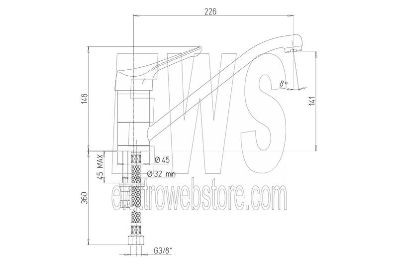 Miscelatore per lavello da cucina cromato Paini Pilot 04CR573P1