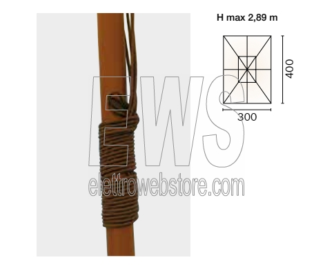 ombrellone rettangolare metri 3x4 verde mod. 4004v