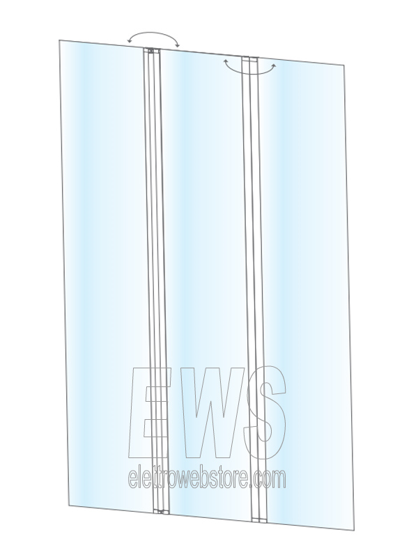 Paratia snodabile barriera tra postazioni protezione anticontagio plexiglass 120x182 cm