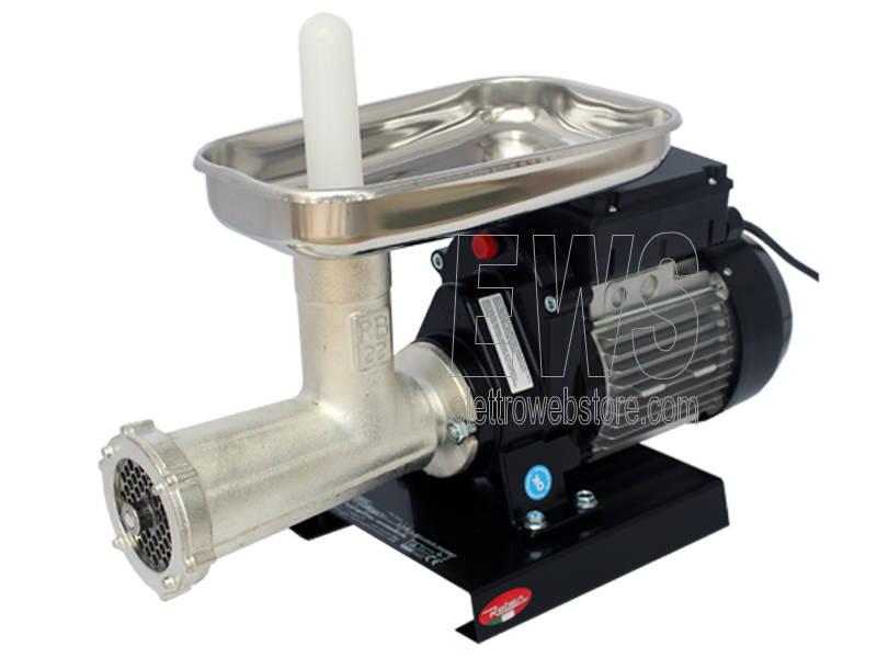 Reber tritacarne elettrico 22 da 600 Watt motore potenza HP 0.80 corpo in ghisa stagnata 9500N
