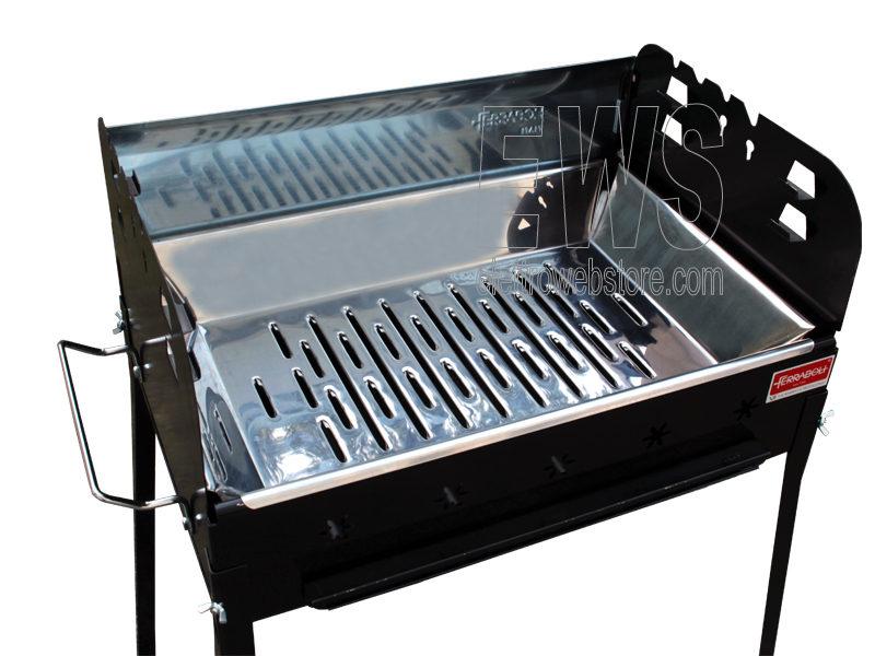 Ferraboli Sirio barbecue a carbonella inox 156