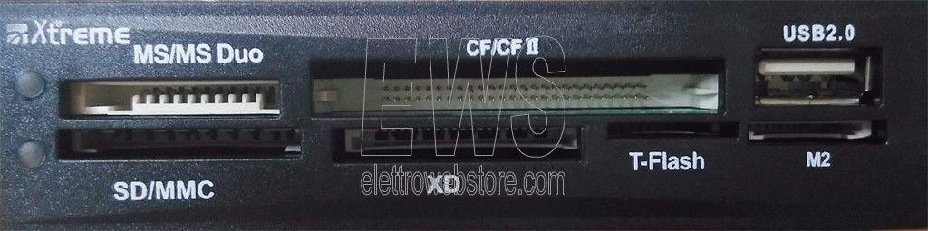 Cardreader Hub USB 2.0 interno PC pannello frontale EGR30796
