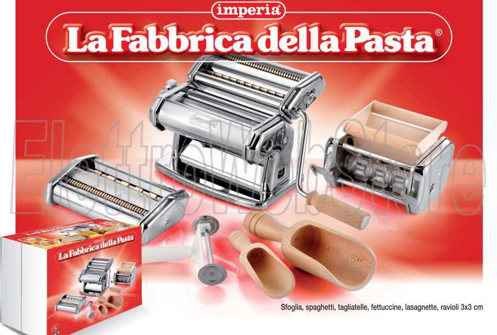 Imperia La Fabbrica della Pasta spaghetti tagliatelle fettuccine lasagnette ravioli