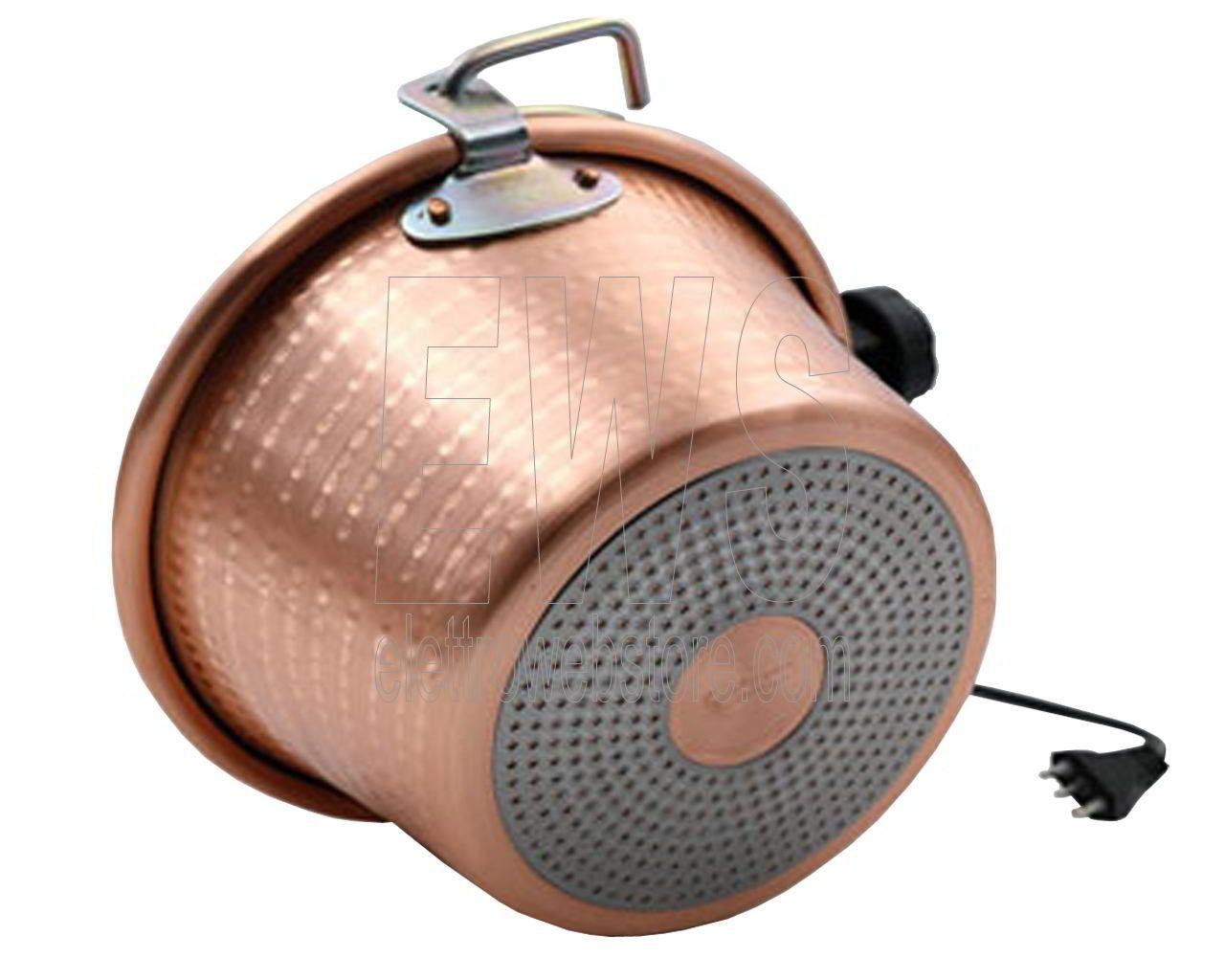 Botta Cuoca Automatica paiolo rame induzione 26 cm 4 litri 5 Watt