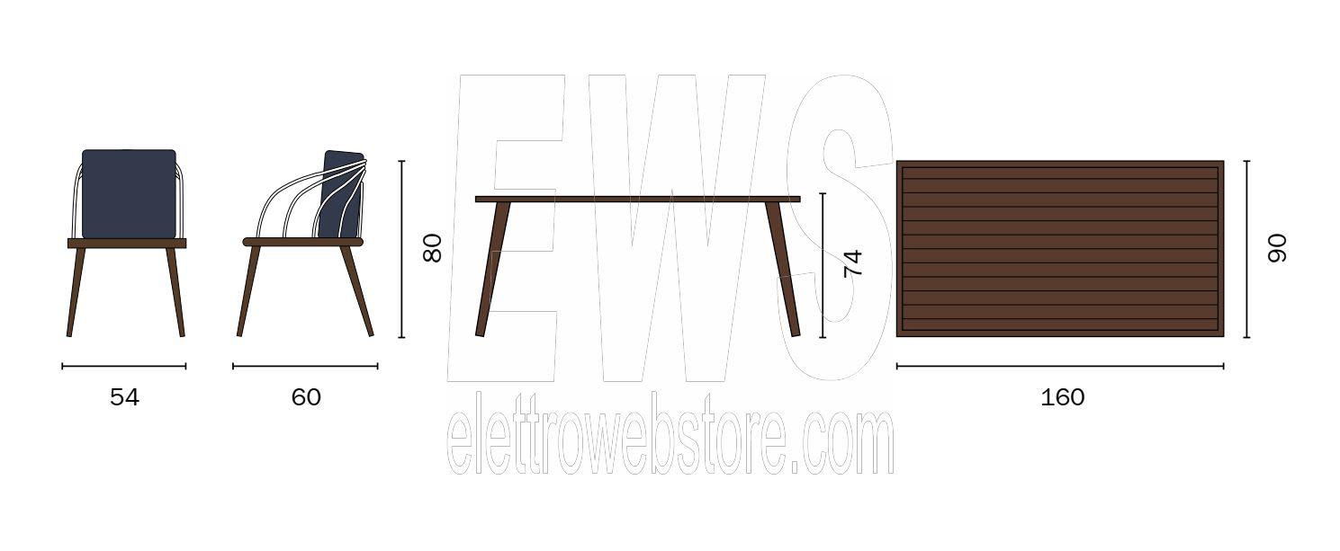 Imperia tavolo + 6 sedie dining set DSA11