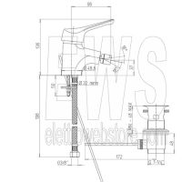 Miscelatore per bidet cromato Paini Pilot 04CR306P1