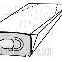 Confezione da 10 sacchi in carta Vorwerk Folletto VK 130 - 131 TSIH12