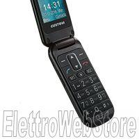 FLIP 8 telefono cellulare GSM tasti grandi a conchiglia con tasto SOS nero