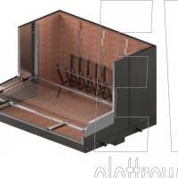 FOGHER caminetto grill da giardino in acciaio