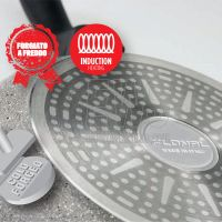 Flonal Monolite padella induzione con manico estraibile fondo in acciaio per induzione