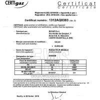 Sicar stufa infrarossi GPL EURO90 grigia 4200 W Certificazione di conformità