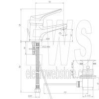 Miscelatore per lavabo cromato Paini Pilot 04CR211P1