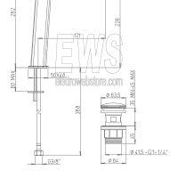 Paini Nove miscelatore monoforo lavabo tipo alto con piletta clic-clac 09CR211LLSR