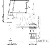Paini Nove miscelatore monoforo lavabo medio con piletta clic-clac 09CR211MESR