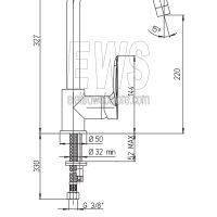 Paini-Nove-miscelatore-rubinetto-lavello-bocca-orientabile-09CR572-