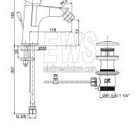 Paini Atomix miscelatore monoforo bidet scarico automatico D1CR306G
