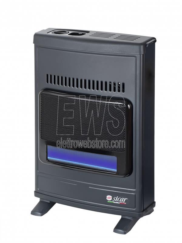 Sicar stufa fiamma blu metano ECO45 grigia 4100 Watt