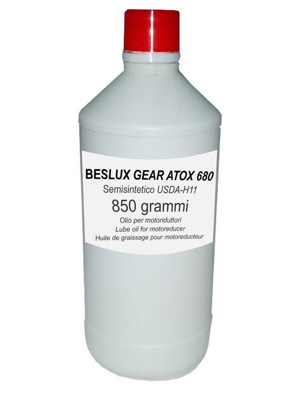 Flacone olio lubrificante ingranaggi BESLUX GEAR ATOX 680 850 grammi
